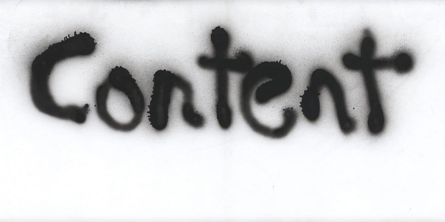 Content Marketing spraypainted