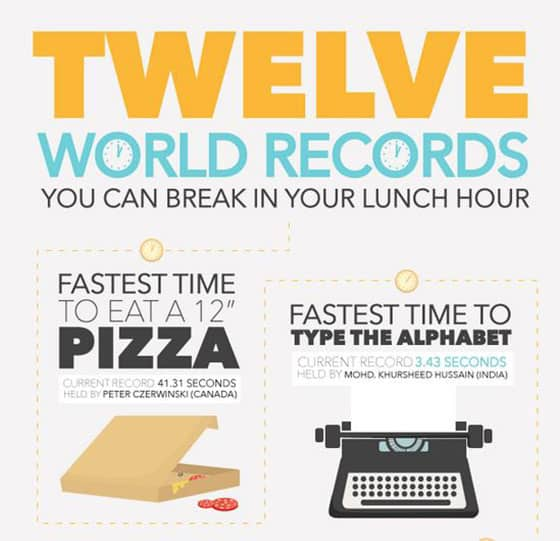Twelve World Records You Can Break In Your Lunch Hour