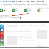 Offsetting Shareaholic floated share buttons