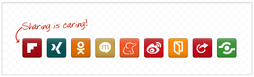 Flipboard, Mixi, Weibo share buttons supported