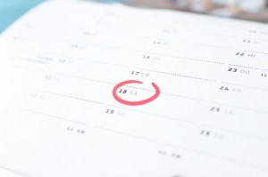 Blogger events and editorial calendar
