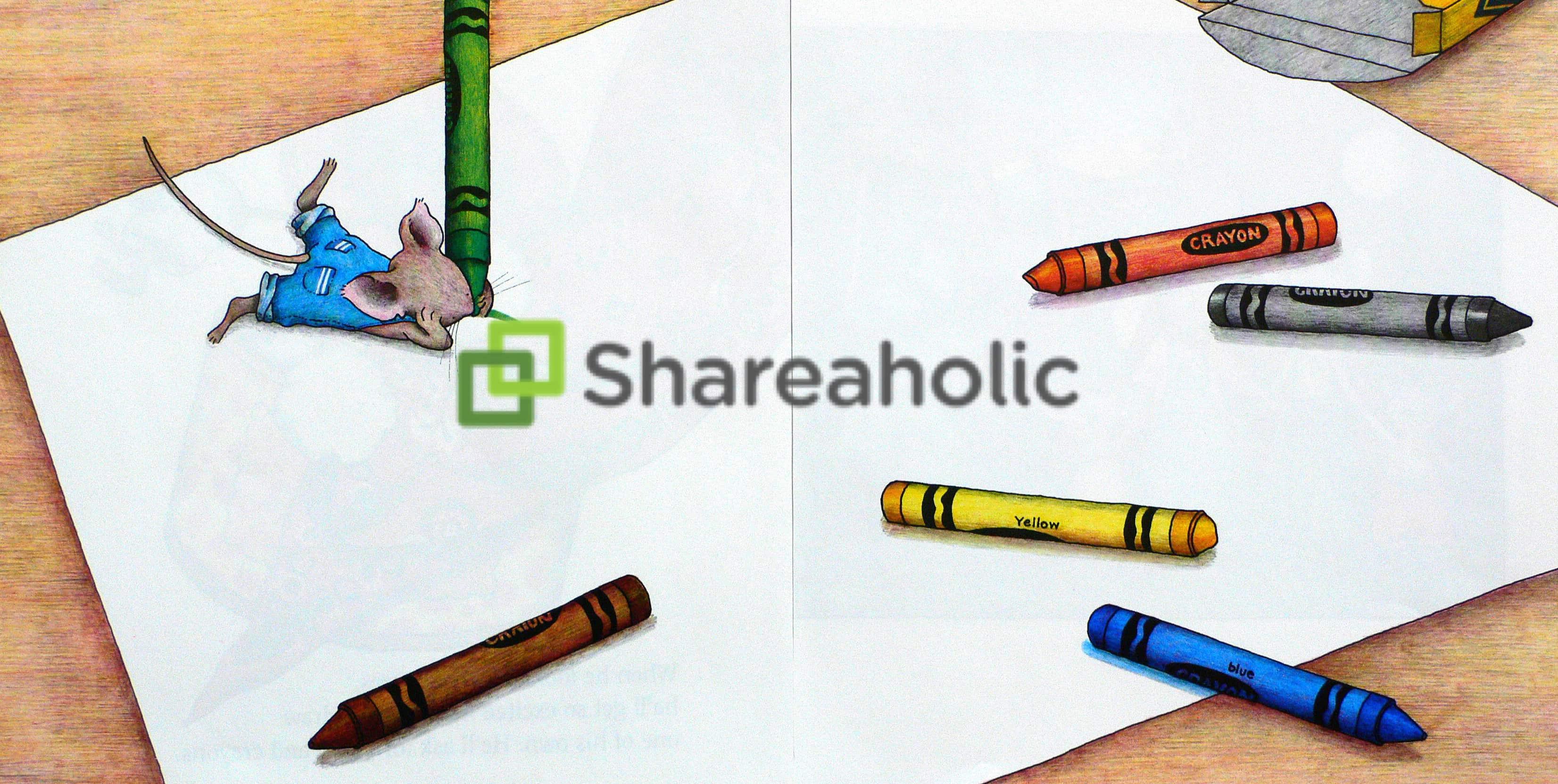 Shareaholic Blog Branded Mouse Drawing Logo