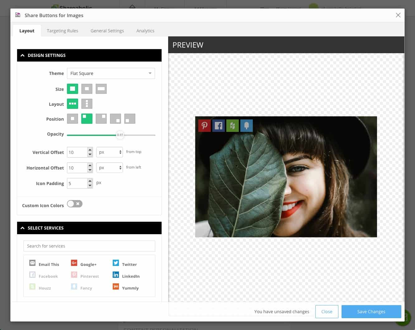 Share Buttons for Images plugin