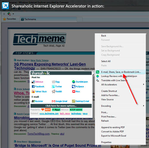 Shareaholic Accelerator for IE8